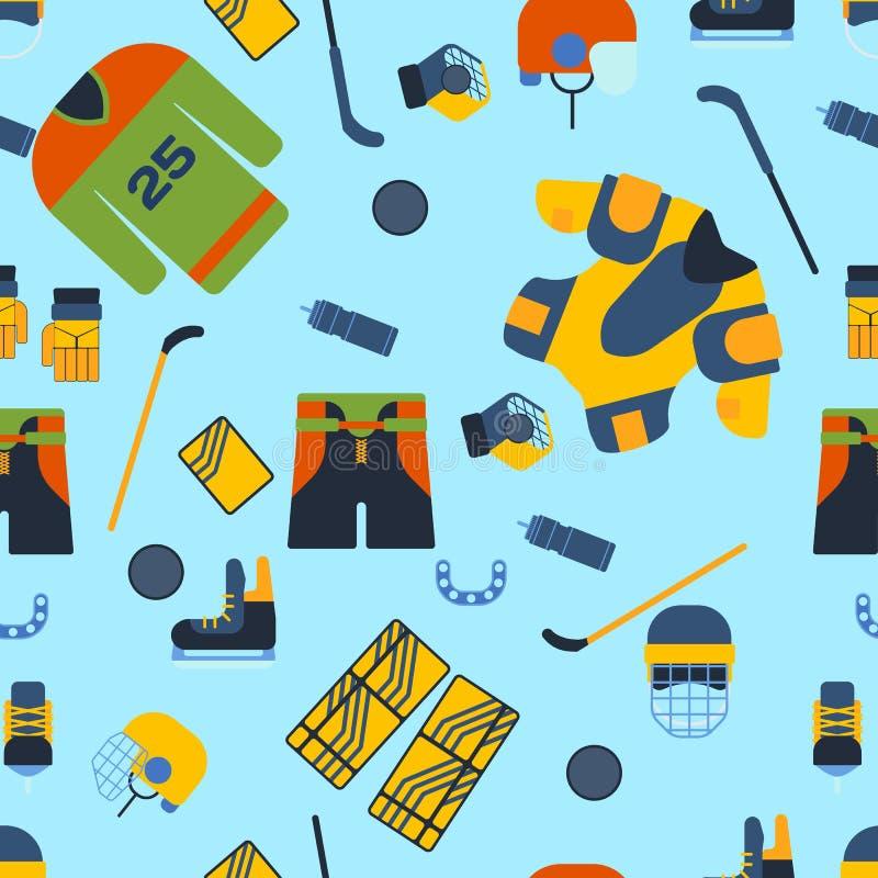 Hokejowa bezszwowa deseniowa wektorowa ilustracja royalty ilustracja