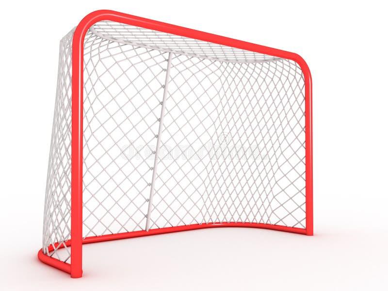 Hokejowa brama. ilustracji