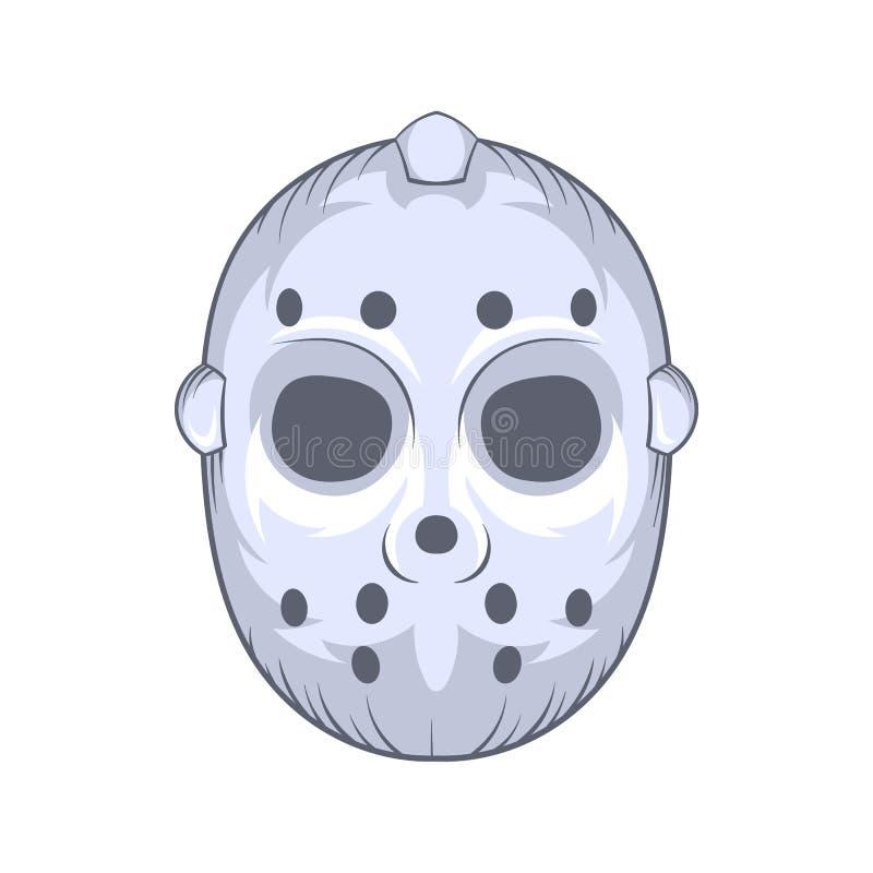 Hokejowa bramkarz maski ikona, kreskówka styl ilustracja wektor