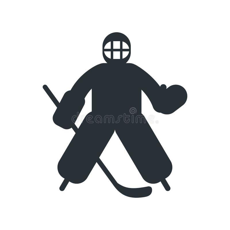 Hokejowa bramkarza mieszkania ikona royalty ilustracja