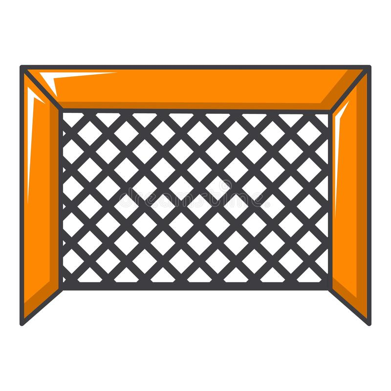 Hokejowa bramy ikona, kreskówka styl ilustracja wektor