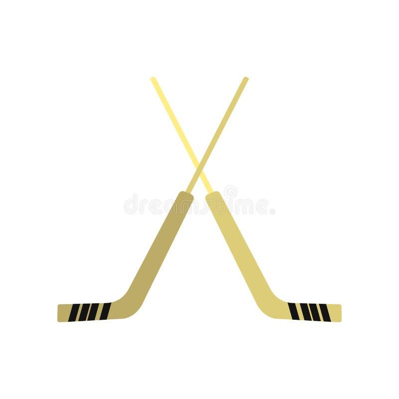 Hokejowa ikona, mieszkanie styl ilustracji
