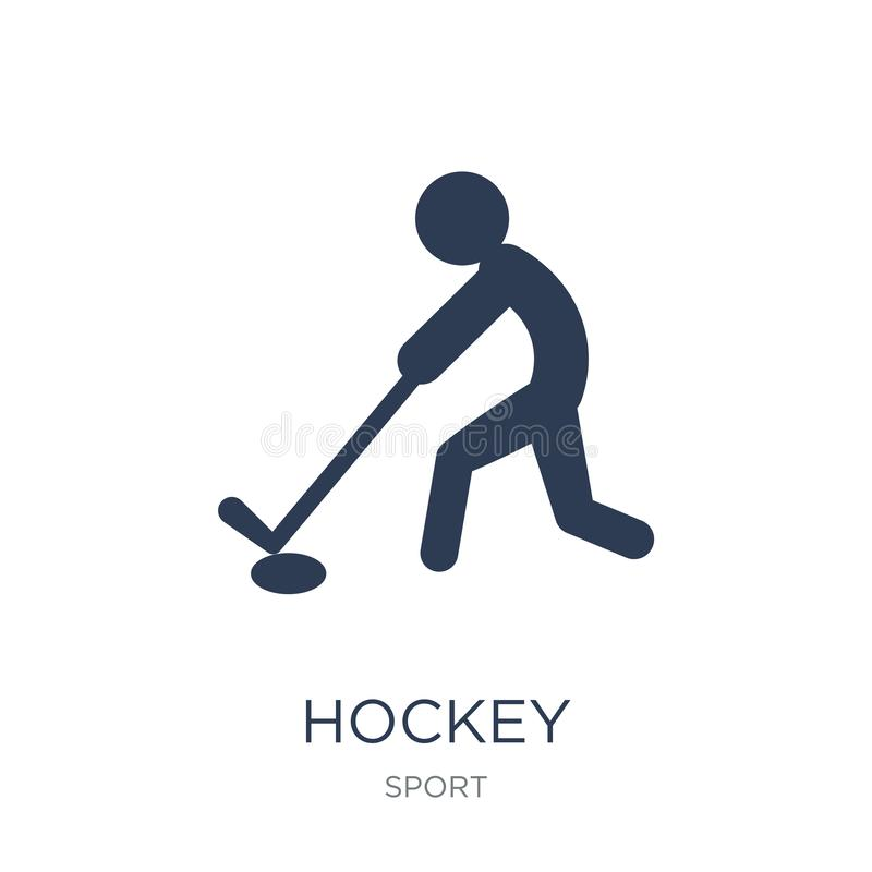 Hokejowa ikona Modna płaska wektorowa Hokejowa ikona na białym tle ilustracji