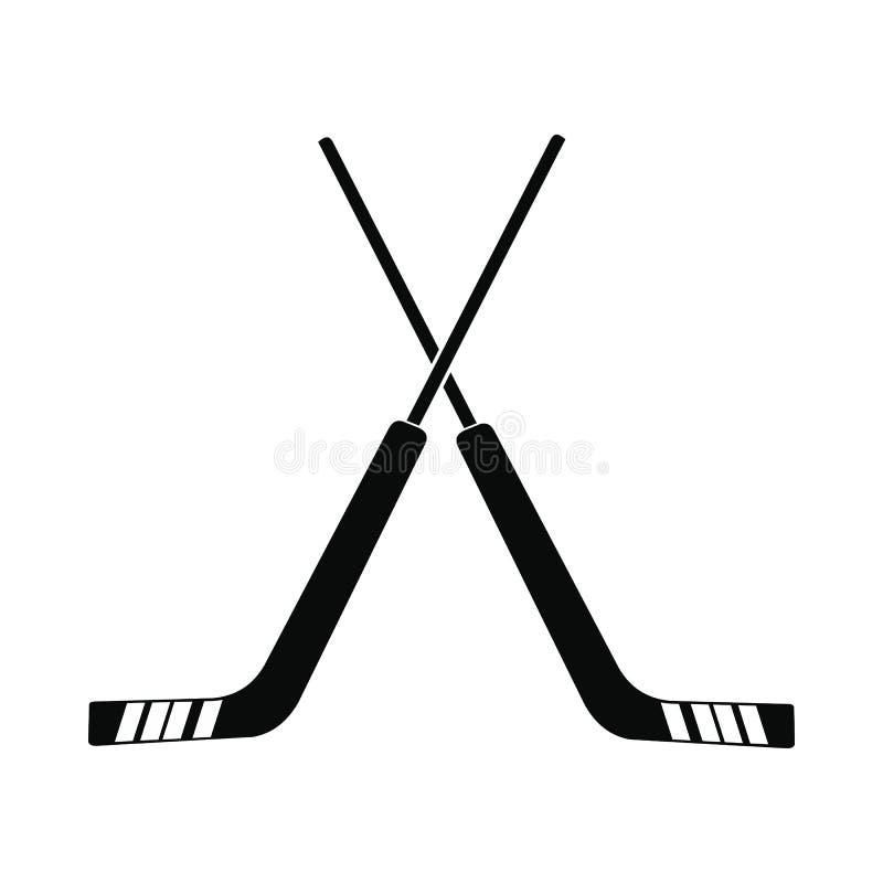 Hokejowa ikona, prosty styl ilustracja wektor