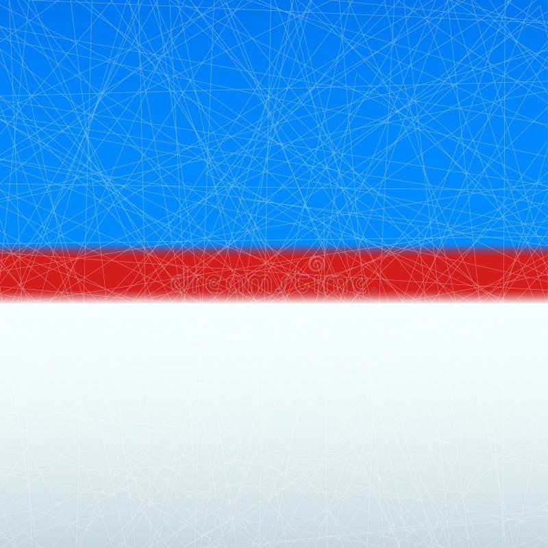 Hokejowa lodowisko powierzchnia ilustracja wektor