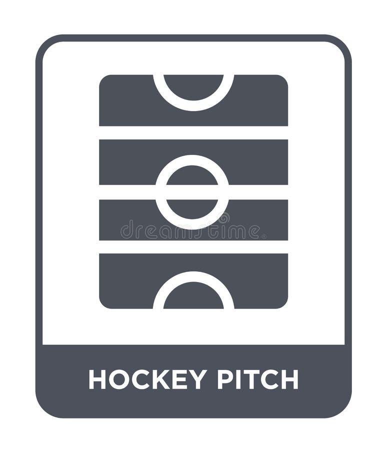 hokejowa smoły ikona w modnym projekta stylu hokejowa smoły ikona odizolowywająca na białym tle hokejowej smoły wektorowa ikona p ilustracja wektor