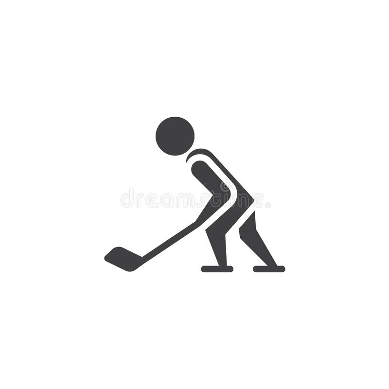 Hokejowa sporta wektoru ikona ilustracji