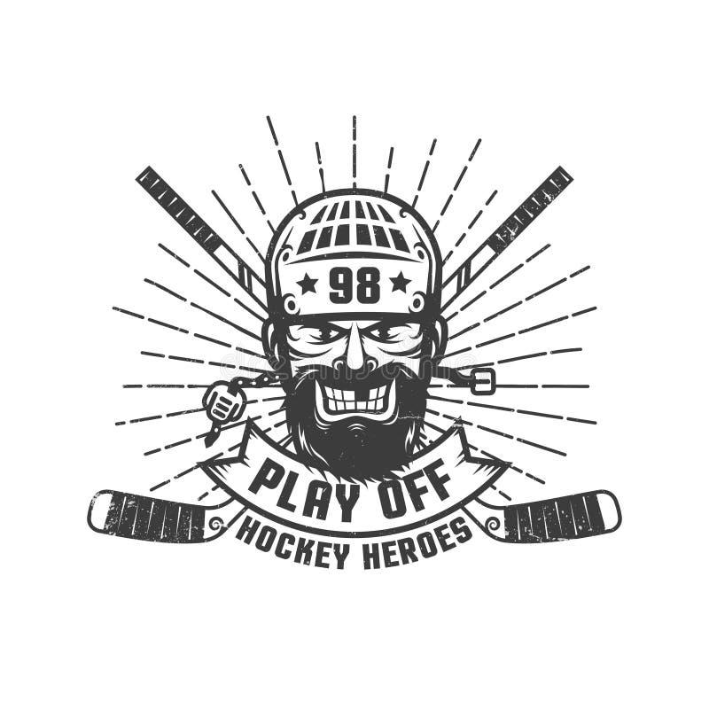 Hokejowa sztuka z loga ilustracji