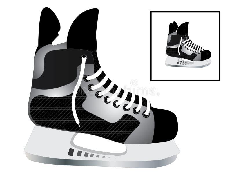 hokejowe łyżwy ilustracji