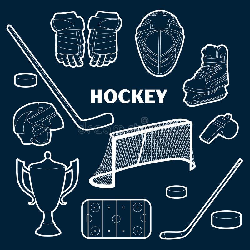 Hokejowe ikony ustawiać ilustracji