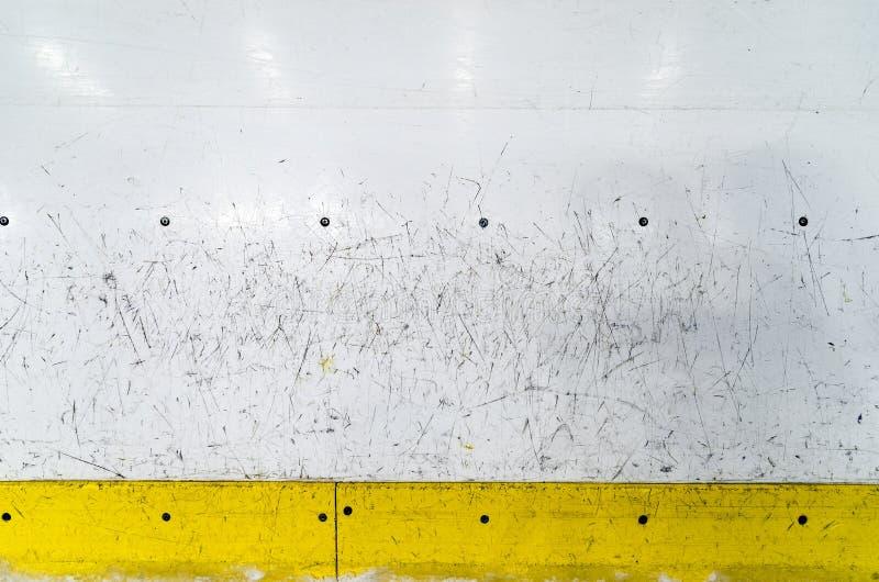 Hokejowe lodowisko deski obrazy royalty free