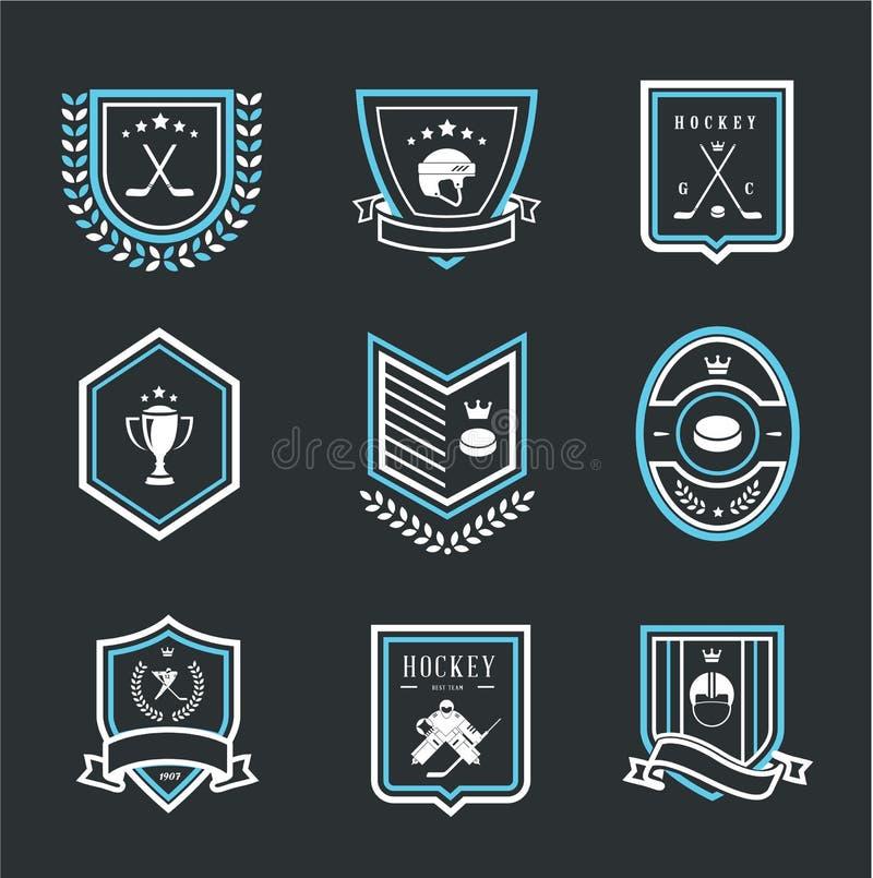 Hokejowe sport ikony ilustracji