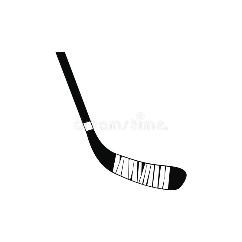 Hokejowego kija czerni prosta ikona royalty ilustracja