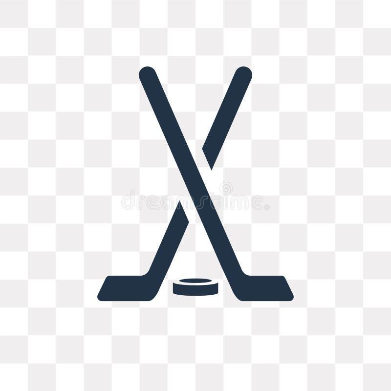 Hokejowego kija wektorowa ikona odizolowywająca na przejrzystym tle, Hoc ilustracja wektor