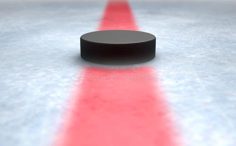 Hokejowego krążka hokojowego Centre ilustracji