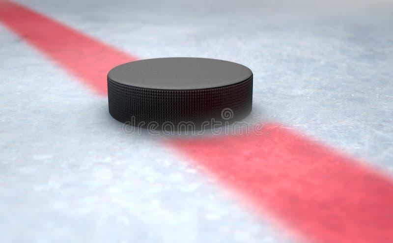 Hokejowego krążka hokojowego Centre ilustracja wektor