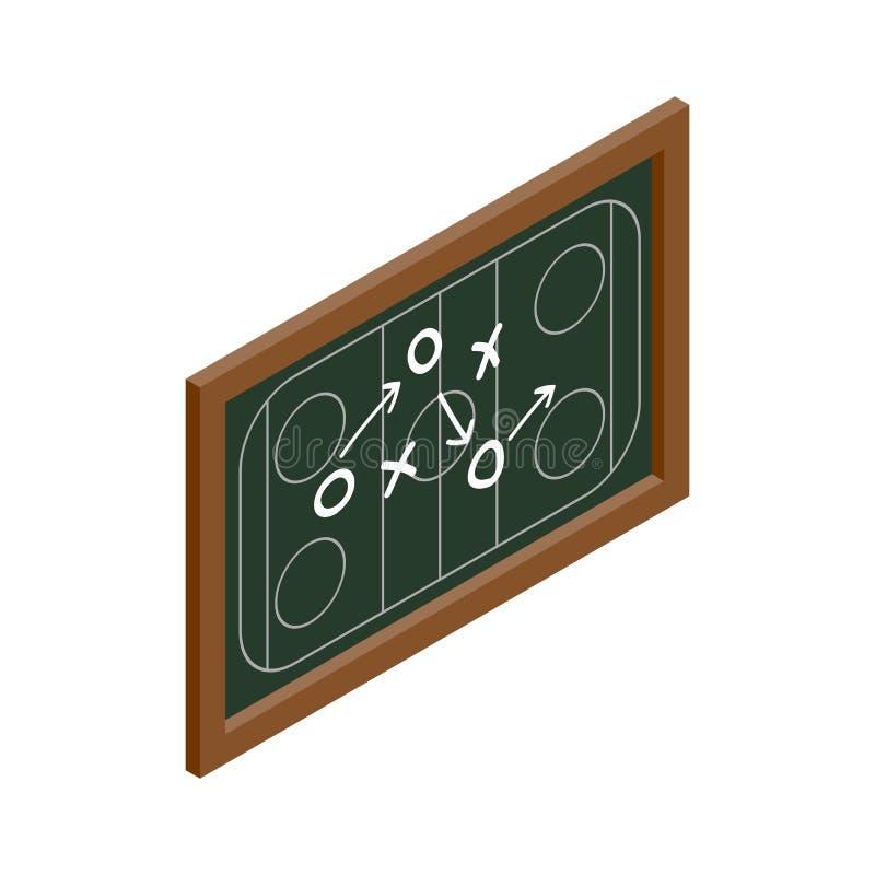 Hokejowego strategii chalkboard isometric ikona royalty ilustracja
