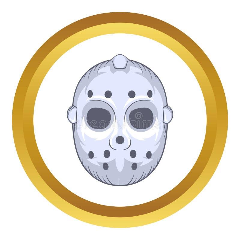 Hokejowej bramkarz maski wektorowa ikona, kreskówka styl ilustracji