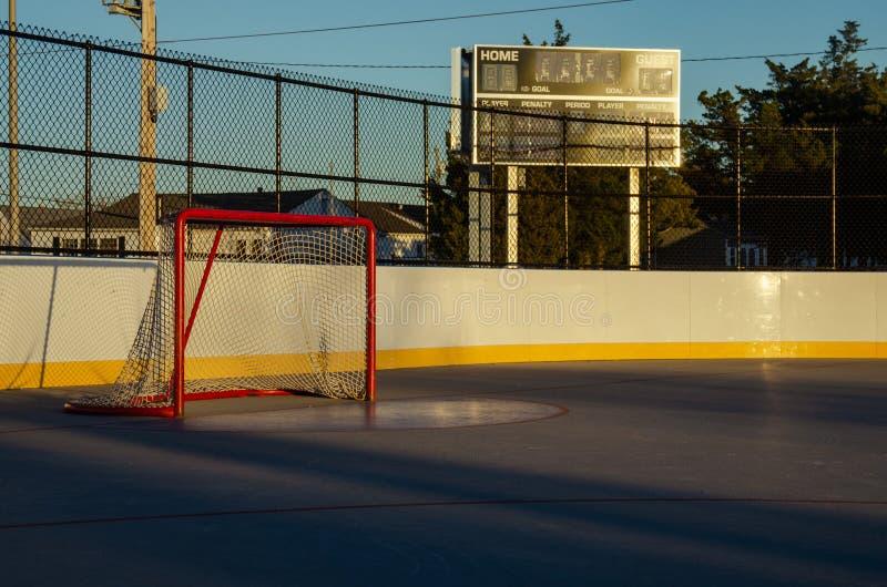 Hokejowi cele plenerowi zdjęcie royalty free