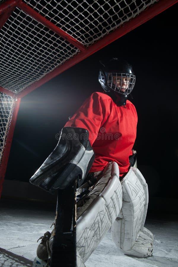 Hokejowy bramkarz fotografia royalty free