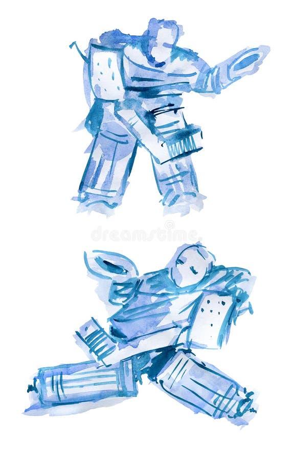 Hokejowy bramkarz  ilustracja wektor