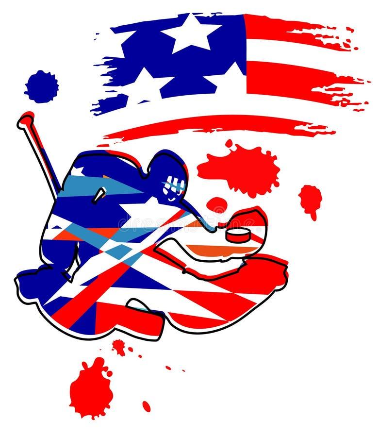 Hokejowy bramkarz. royalty ilustracja