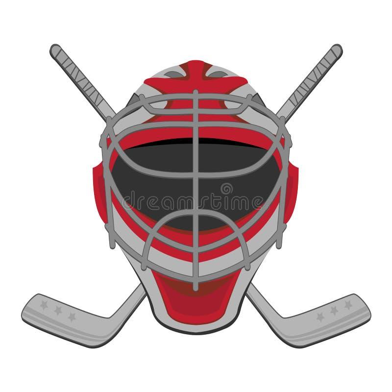 Hokejowy bramkarz. ilustracji