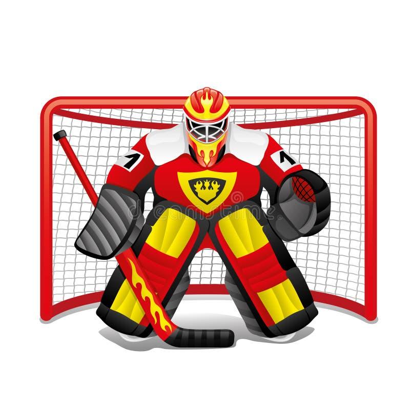 Hokejowy bramkarz w celu ilustracji