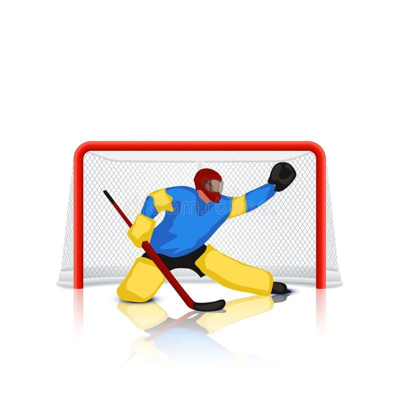 Hokejowy bramkowy pastuch royalty ilustracja