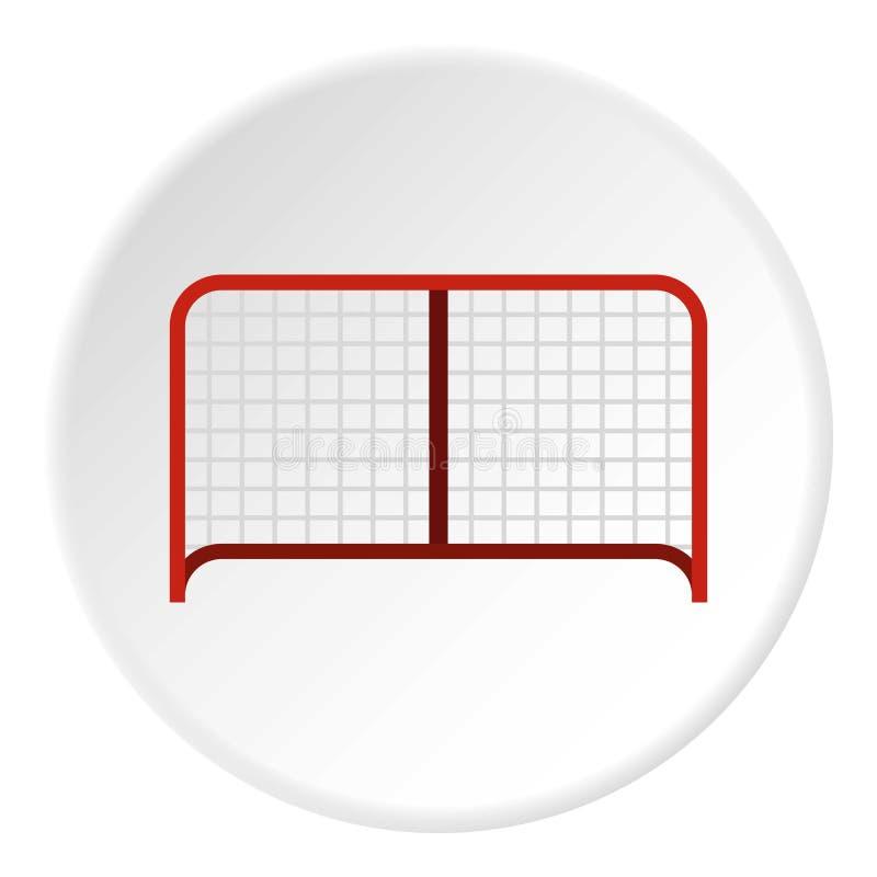 Hokejowy bramy ikony okrąg ilustracja wektor