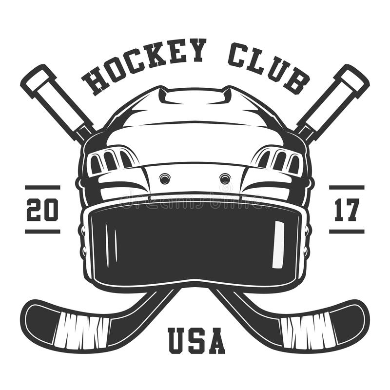 Hokejowy hełm ilustracja wektor