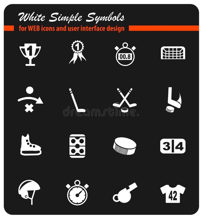 Hokejowy ikona set royalty ilustracja