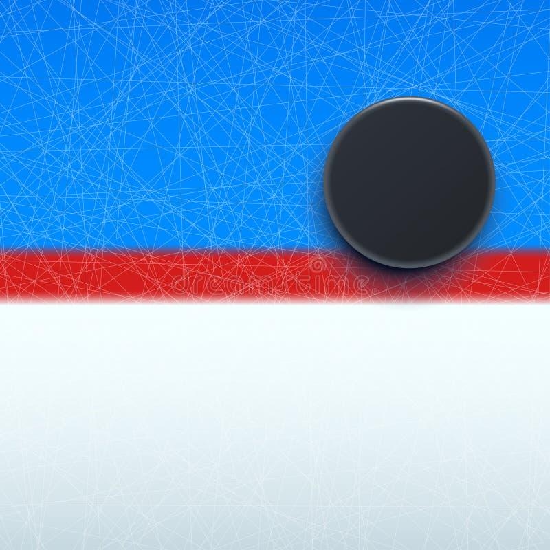 Hokejowy krążek hokojowy na linii royalty ilustracja