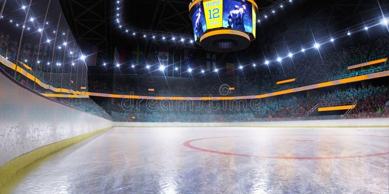 Hokejowy lodowego lodowiska sporta areny pusty pole ilustracji