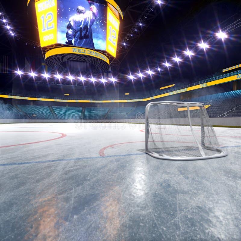 Hokejowy lodowego lodowiska sporta areny pusty pole royalty ilustracja