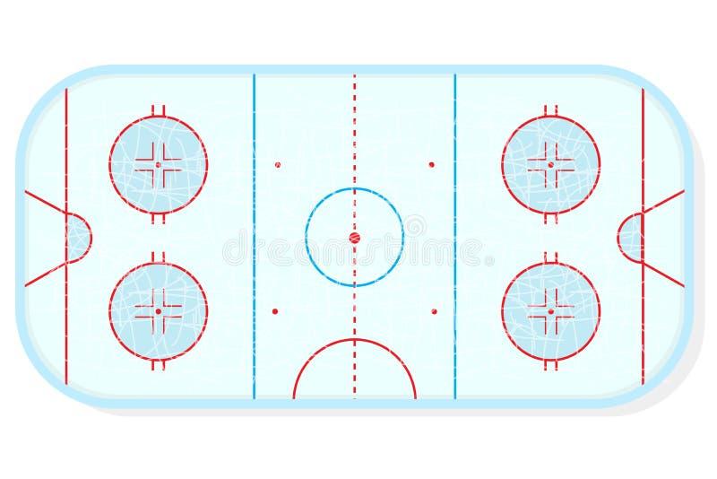 Hokejowy lodowisko wektor ilustracja wektor