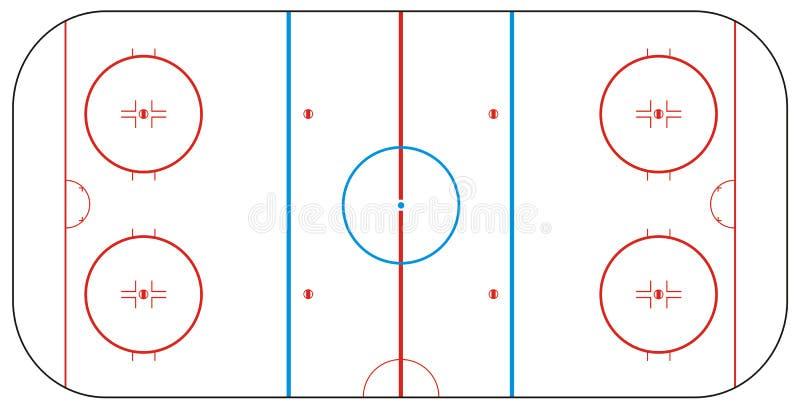 hokejowy lodowy lodowisko ilustracji