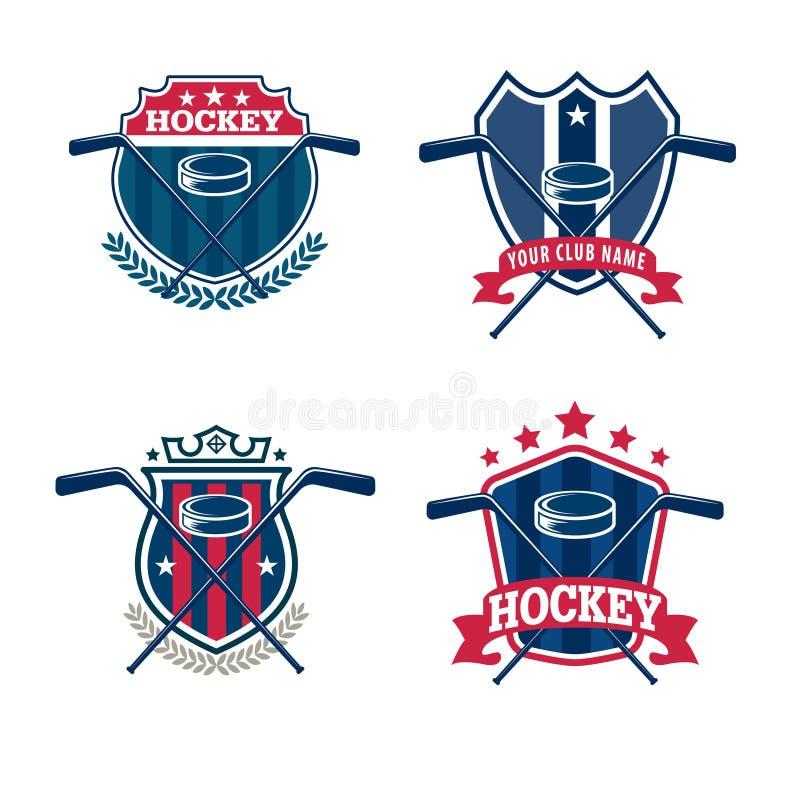 Hokejowy loga set ilustracja wektor