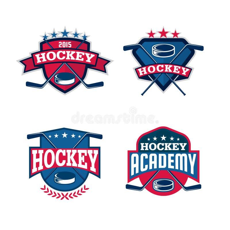 Hokejowy loga set royalty ilustracja