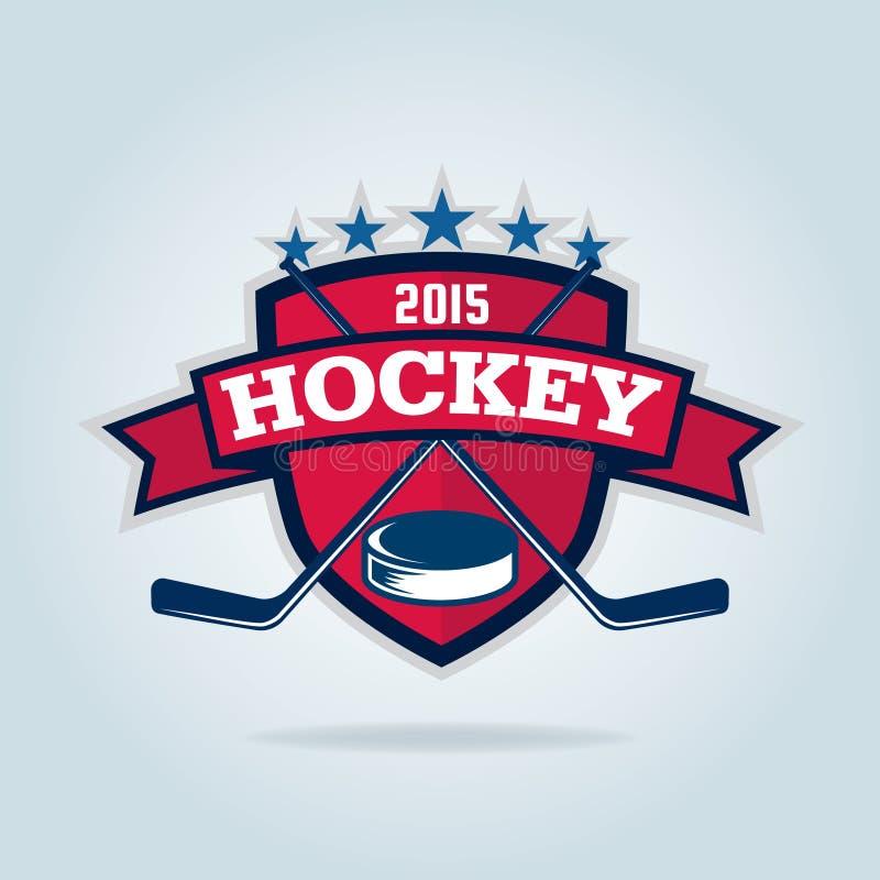 Hokejowy logo, sport tożsamość ilustracji
