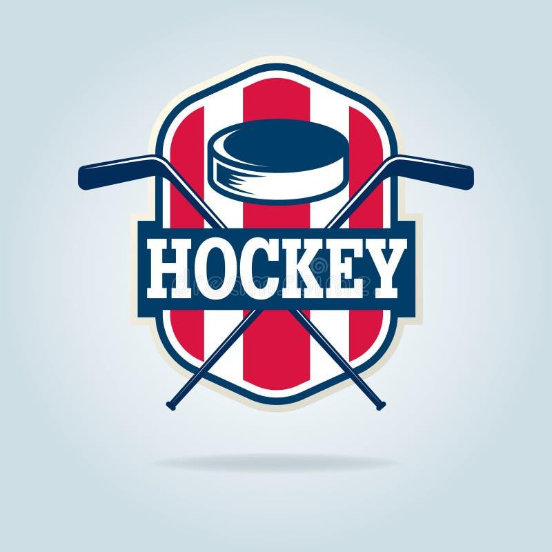 Hokejowy logo, sport tożsamość ilustracja wektor