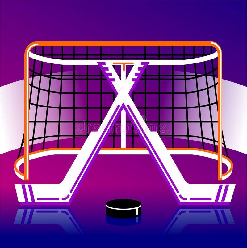 Hokejowy logo w wektorze royalty ilustracja