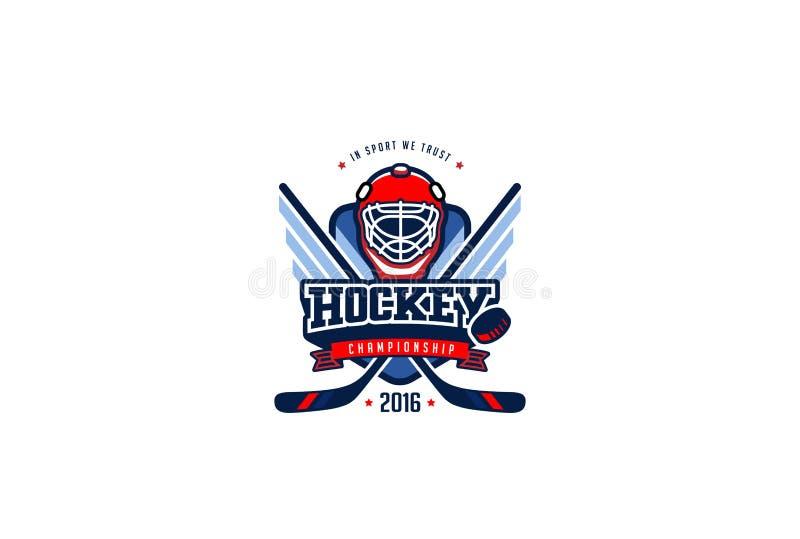 Hokejowy odznaka loga projekt Grafika sporta drużyny tożsamości etykietka ilustracja wektor