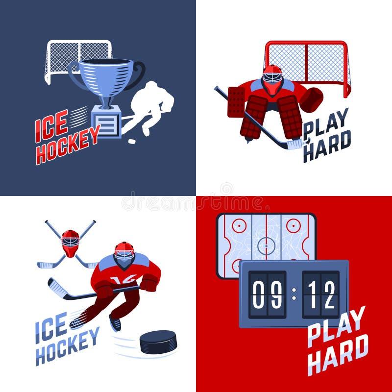 Hokejowy projekta pojęcie ilustracji