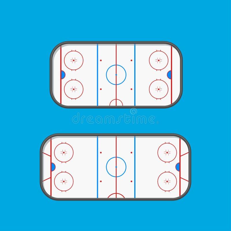 Hokejowy typ lodowisko ilustracji