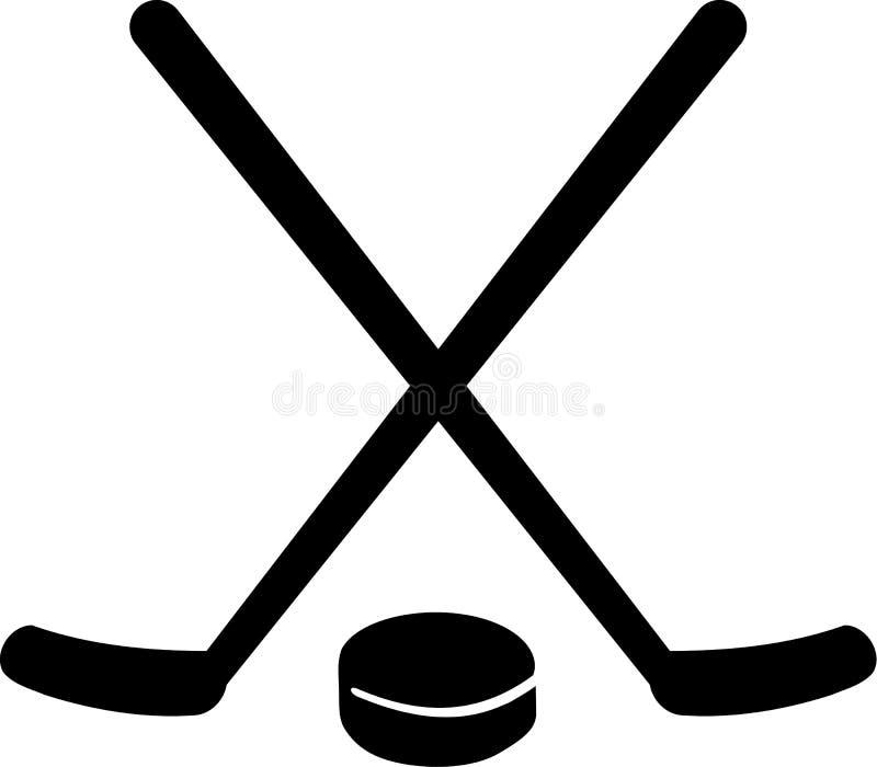 Hokejowy wyposażenie royalty ilustracja