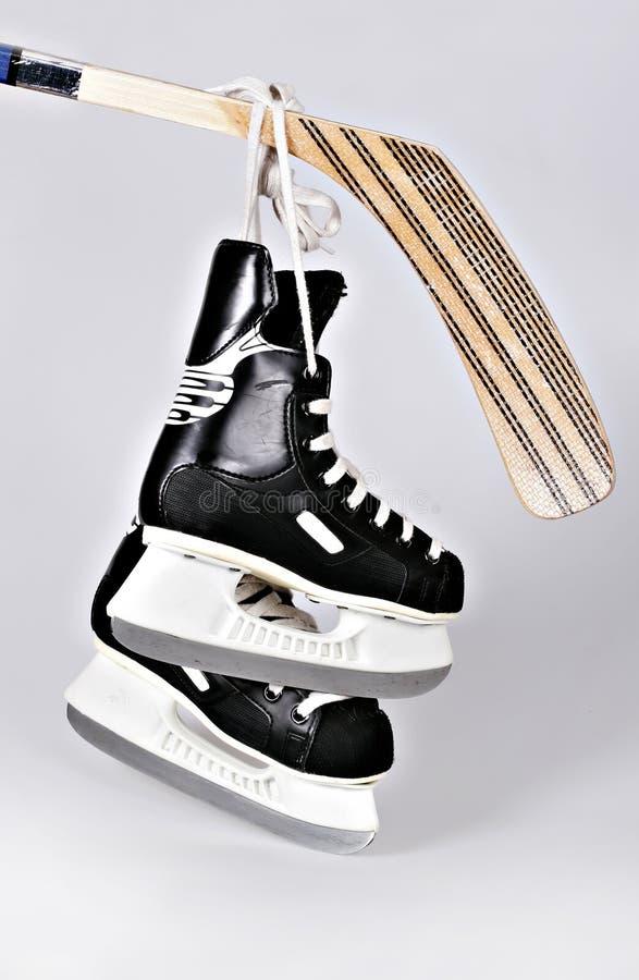 hokey катается на коньках ручка стоковая фотография
