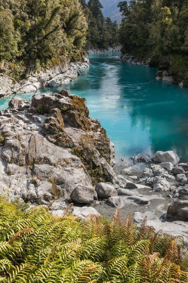 Hokitika峡谷,西海岸,新西兰 免版税库存照片