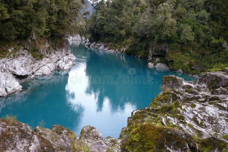Hokitika Fluss-Schlucht, szenisches Neuseeland lizenzfreies stockbild