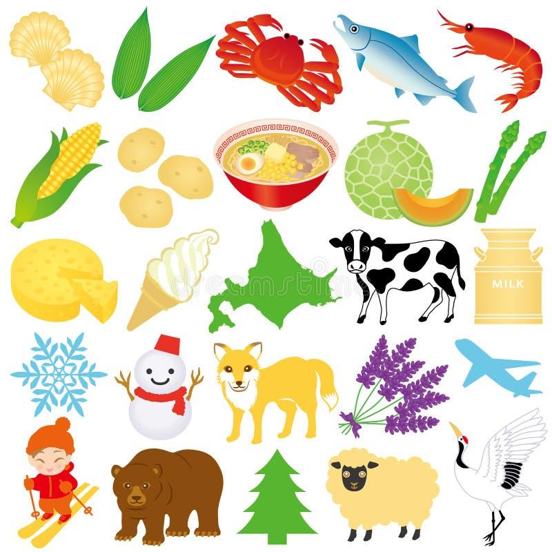 Hokkaido ilustracje. ilustracji